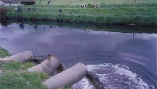 Vertimiento de aguas residuales en rios